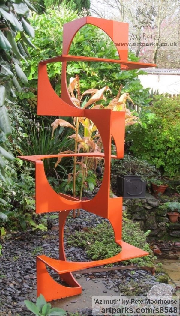 Steel Garden Or Yard / Outside and Outdoor sculpture by sculptor Pete Moorhouse titled: 'Azimuth'