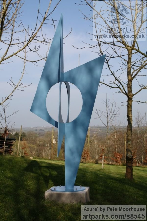Steel Garden Or Yard / Outside and Outdoor sculpture by sculptor Pete Moorhouse titled: 'Azure'