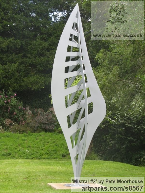 Mild Steel Garden Or Yard / Outside and Outdoor sculpture by sculptor Pete Moorhouse titled: 'Mistral #2'