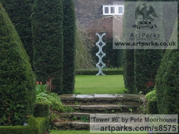 Steel Abstract Contemporary or Modern Outdoor Outside Exterior Garden / Yard sculpture statuary sculpture by sculptor Pete Moorhouse titled: 'Tower #6'