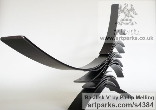 Steel Garden Or Yard / Outside and Outdoor sculpture by sculptor Philip Melling titled: 'Basilisk V' - Artwork View 2