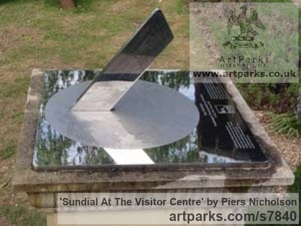 Stainless Steel Garden Or Yard / Outside and Outdoor sculpture by sculptor Piers Nicholson titled: 'Sundial at the visitor centre of a major charity in Bedfordshire' - Artwork View 2