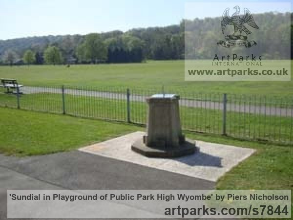 Stainless Steel Garden Or Yard / Outside and Outdoor sculpture by sculptor Piers Nicholson titled: 'Sundial in playground of public park High Wyombe' - Artwork View 2