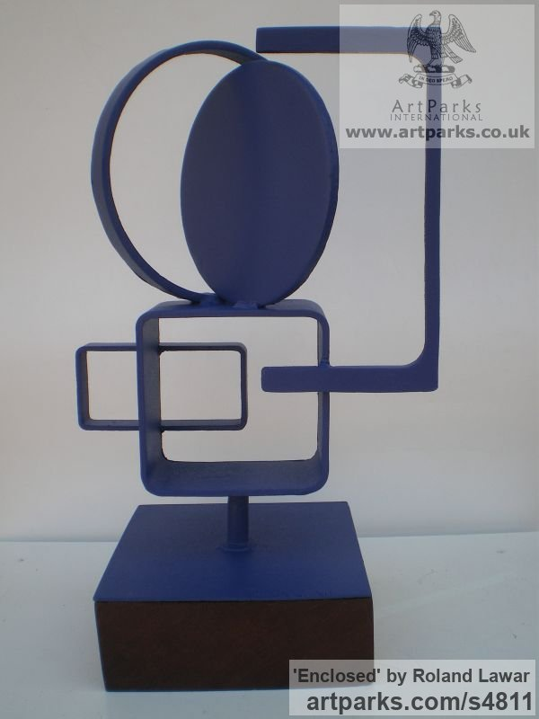 Steel Commission and Custom and Bespoke sculpture sculpture by sculptor Roland Lawar titled: 'Enclosed (Small abstract Steel sculptures)'