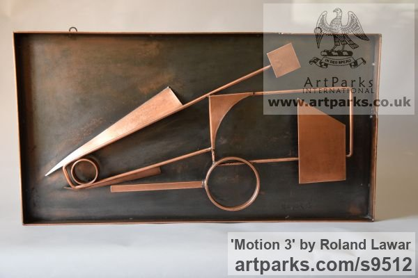 Steel Wall Mounted or Wall Hanging sculpture by sculptor Roland Lawar titled: 'Motion 3'