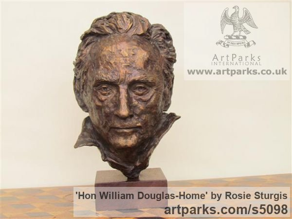 Bronze Portrait Sculptures / Commission or Bespoke or Customised sculpture by sculptor Rosie Sturgis titled: 'Hon William Douglas-Home (Bronze Portrait Bust sculpture)'