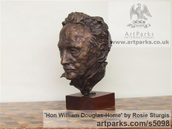 Bronze Portrait Sculptures / Commission or Bespoke or Customised sculpture by sculptor Rosie Sturgis titled: 'Hon William Douglas-Home (Bronze Portrait Bust sculpture)' - Artwork View 2