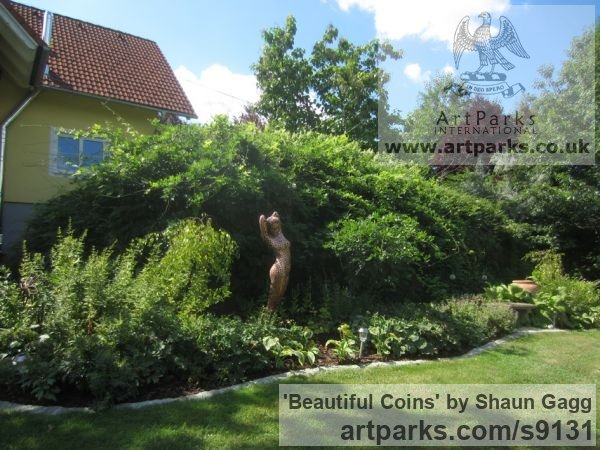 Coins Garden Or Yard / Outside and Outdoor sculpture by sculptor Shaun Gagg titled: 'Beautiful Coins - Commissioned' - Artwork View 5