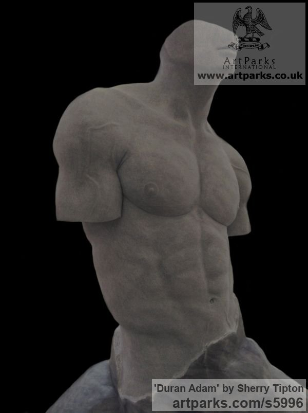 Turkish Afyon Marble Male Men Youths Masculine sculpturettes figurines sculpture by sculptor Sherry Tipton titled: 'Duran Adam' - Artwork View 1