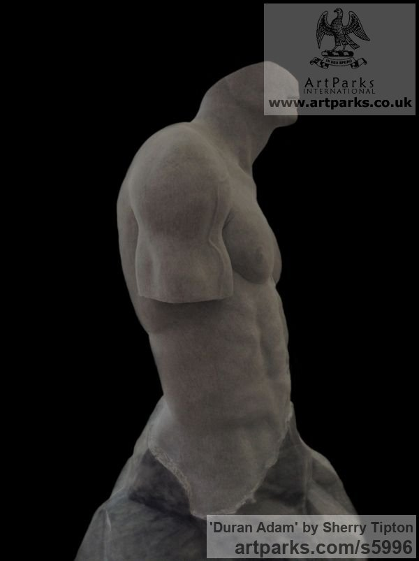 Turkish Afyon Marble Male Men Youths Masculine sculpturettes figurines sculpture by sculptor Sherry Tipton titled: 'Duran Adam' - Artwork View 4