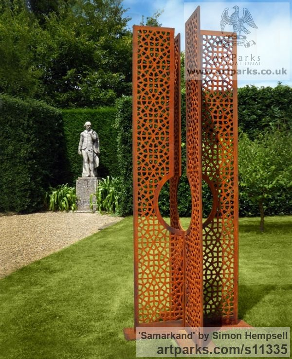 Steel / Metal Garden Or Yard / Outside and Outdoor sculpture by sculptor  Simon Hempsell titled