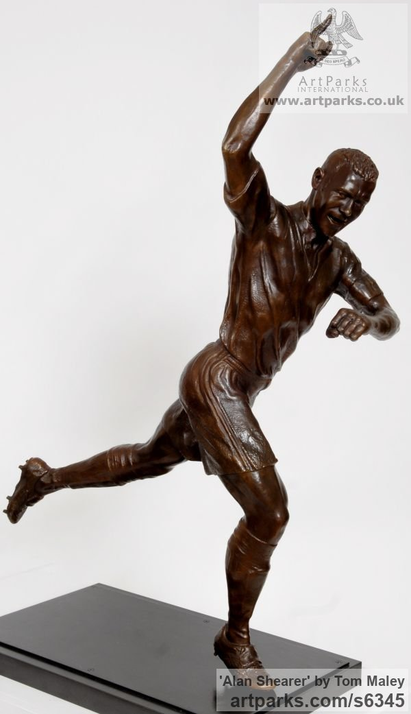 Bronze Portrait Sculptures / Commission or Bespoke or Customised sculpture by sculptor Tom Maley titled: 'Alan Shearer (Bronze Commemorative Commission Football Star statue)'