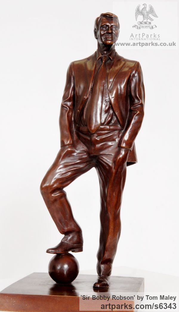 Bronze Portrait Sculptures / Commission or Bespoke or Customised sculpture by sculptor Tom Maley titled: 'Sir Bobby Robson (Bronze Portrait Commission Custom sculpture/statue)' - Artwork View 2