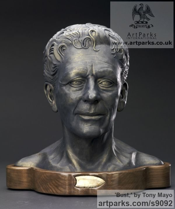 Ceramic, Canadian giant maple, flint Portrait Sculptures / Commission or Bespoke or Customised sculpture by sculptor Tony Mayo titled: 'Bust, (Self-Portrait Commission Custom Bespoke statue)' - Artwork View 4