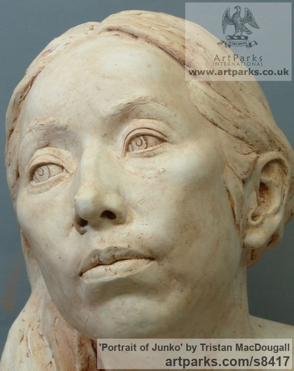 Plaster Portrait Sculptures / Commission or Bespoke or Customised sculpture by sculptor Tristan MacDougall titled: 'Portrait of Junko (Plaster Commission Bust statue)' - Artwork View 1