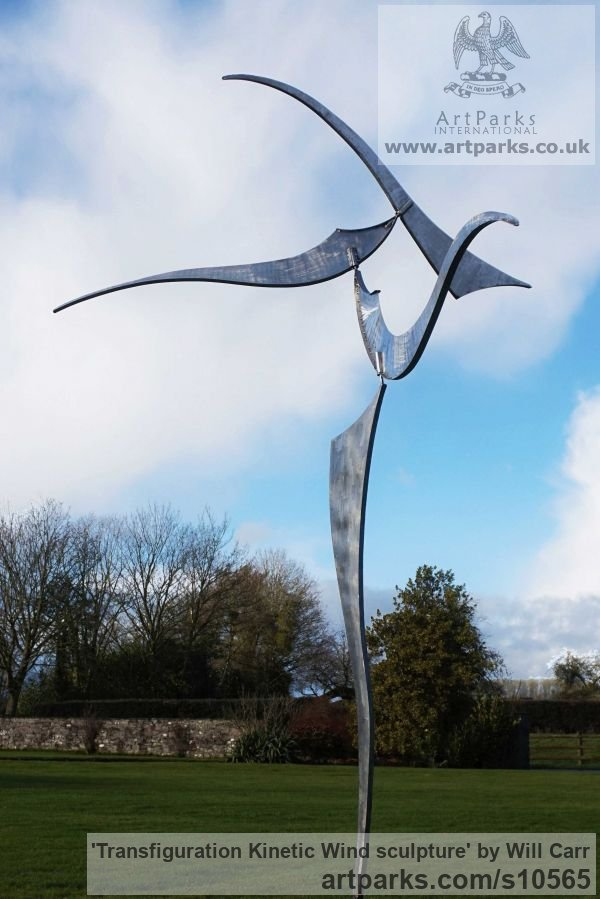 Stainless Steel Abstract Contemporary Modern Outdoor Outside Garden / Yard  Sculpture Statuary Sculpture By Sculptor Will