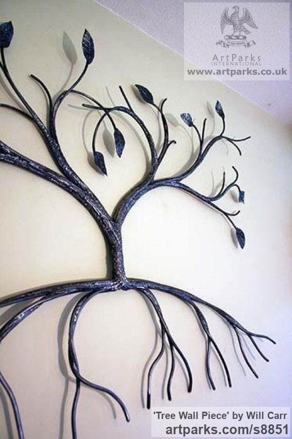 Steel Wall Mounted or Wall Hanging sculpture by sculptor Will Carr titled: 'Tree Wall Piece' - Artwork View 2