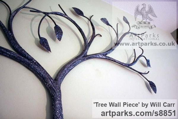 Steel Wall Mounted or Wall Hanging sculpture by sculptor Will Carr titled: 'Tree Wall Piece' - Artwork View 4