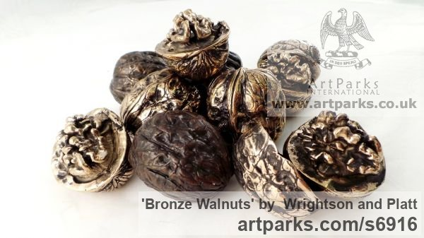 Bronze Cast From Life sculpture or statuette sculpture by sculptor Wrightson and Platt titled: 'Bronze Walnuts (Life-size Intricately Cast from life Walnuts)' - Artwork View 3