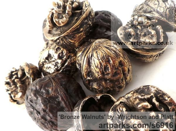 Bronze Cast From Life sculpture or statuette sculpture by sculptor Wrightson and Platt titled: 'Bronze Walnuts (Life-size Intricately Cast from life Walnuts)' - Artwork View 5