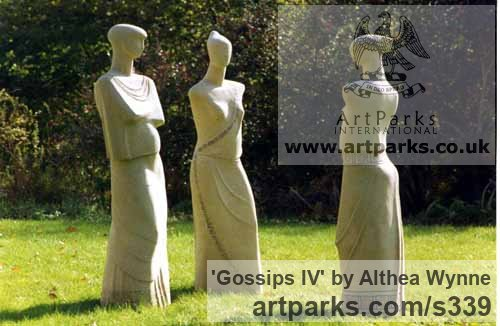 Garden Or Yard / Outside and Outdoor sculpture by sculptor Althea Wynne titled: 'Gossips IV'