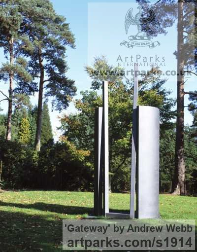 Steel/Metal Abstract Contemporary or Modern Outdoor Outside Exterior Garden / Yard sculpture statuary sculpture by sculptor Andrew Webb titled: 'Gateway (Steel Improvement abstract Outdoors sculpture)'
