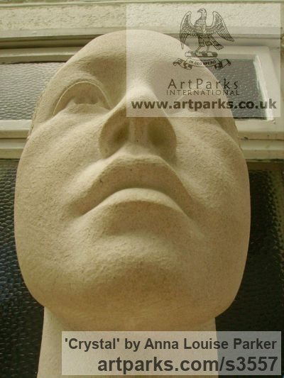 Portland Stone Portrait Sculptures / Commission or Bespoke or Customised sculpture by sculptor Anna Louise Parker titled: 'Crystal (Carved stone Commission Custom Head Bust)' - Artwork View 3