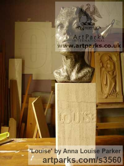 Cement Fondue, Syreford Stone Portrait Sculptures / Commission or Bespoke or Customised sculpture by sculptor Anna Louise Parker titled: 'Louise (Commission Life Portrait Head/Bust statues/sculpture/statuette)'