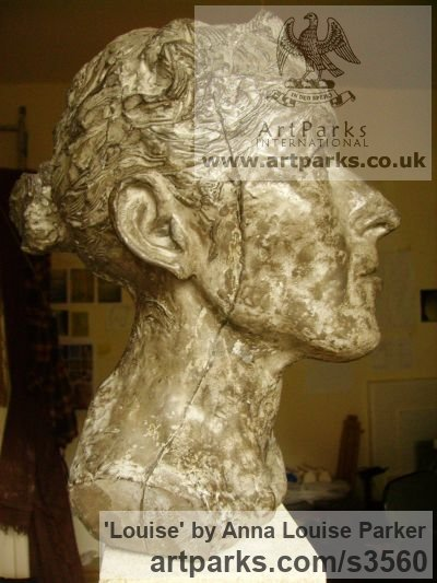 Cement Fondue, Syreford Stone Portrait Sculptures / Commission or Bespoke or Customised sculpture by sculptor Anna Louise Parker titled: 'Louise (Commission Life Portrait Head/Bust statues/sculpture/statuette)' - Artwork View 3