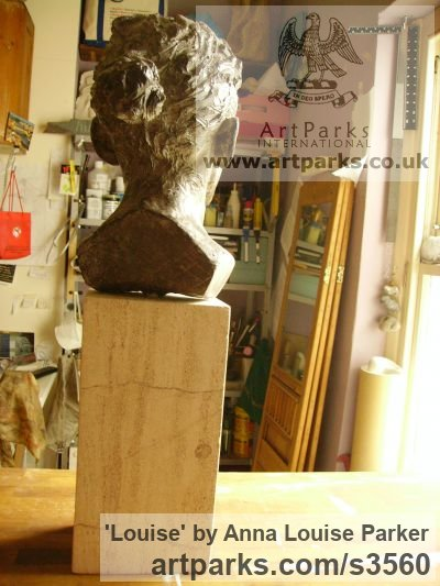 Cement Fondue, Syreford Stone Portrait Sculptures / Commission or Bespoke or Customised sculpture by sculptor Anna Louise Parker titled: 'Louise (Commission Life Portrait Head/Bust statues/sculpture/statuette)' - Artwork View 4