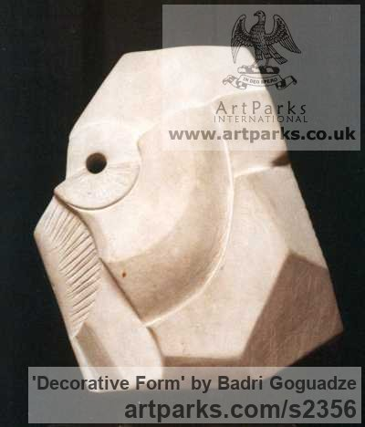 Eclari Stone Indoor Inside Interior Abstract Contemporary Modern Sculpture / statue / statuette / figurine sculpture by sculptor Badri Goguadze titled: 'Decorative Form (abstract Architectural statueor sculptures)' - Artwork View 2
