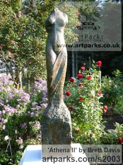 Wax and Styrofoam (cast in Bronze) Garden Or Yard / Outside and Outdoor sculpture by sculptor Brett Davis titled: 'Athena II (Naked Classical female Torso garden/Yard statue/sculpture)' - Artwork View 1