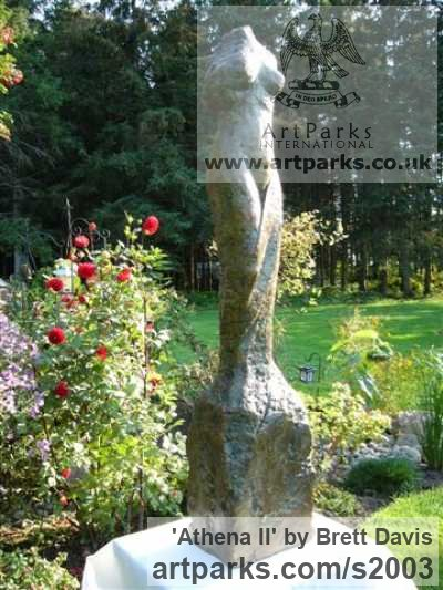 Wax and Styrofoam (cast in Bronze) Garden Or Yard / Outside and Outdoor sculpture by sculptor Brett Davis titled: 'Athena II (Naked Classical female Torso garden/Yard statue/sculpture)' - Artwork View 2