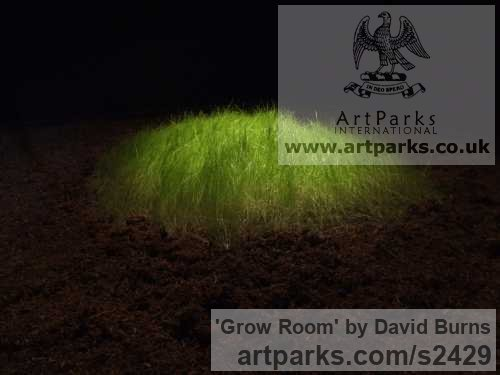 Soil, Grass, Blackout fabric, Wood Abstract Contemporary Modern Outdoor Outside Garden / Yard sculpture statuary sculpture by sculptor David Burns titled: 'Grow Room' - Artwork View 2