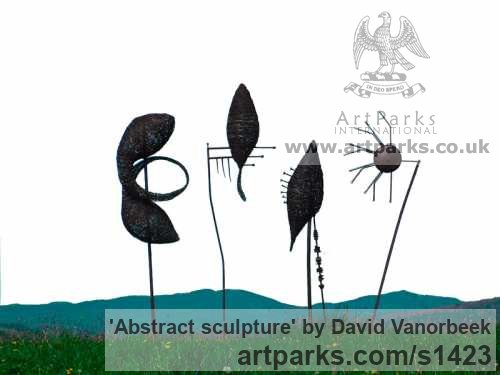 Metal Abstract Contemporary Modern Outdoor Outside Garden / Yard sculpture statuary sculpture by sculptor David Vanorbeek titled: 'abstract sculpture (Metal Outdoor garden sculpture)'