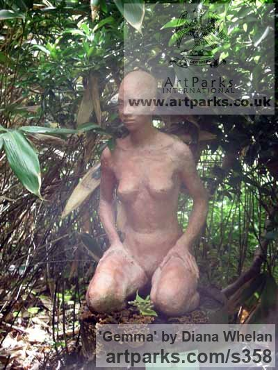 Terracotta Resin Garden Or Yard / Outside and Outdoor sculpture by sculptor Diana Whelan titled: 'Gemma' - Artwork View 1