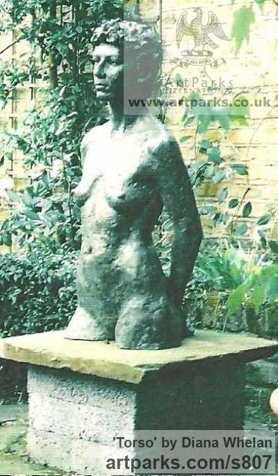 Bronze resin Garden Or Yard / Outside and Outdoor sculpture by sculptor Diana Whelan titled: 'Torso'