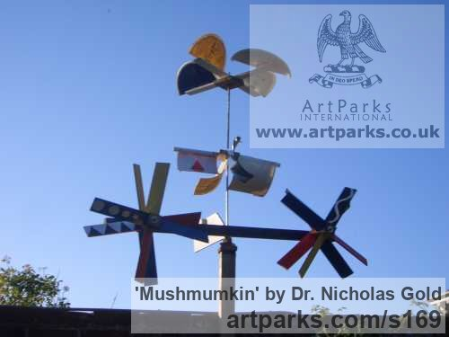 Mixed Media Garden Or Yard / Outside and Outdoor sculpture by sculptor Dr. Nicholas Gold titled: 'Mushmumkin' - Artwork View 2
