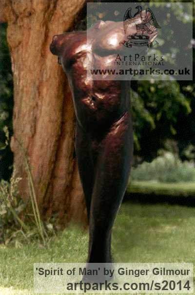 Bronze Male Men Youths Masculine sculpturettes figurines sculpture by sculptor Ginger Gilmour titled: 'Spirit of Man (bronze Contemporary Male nude Torso statues/sculptures)' - Artwork View 4