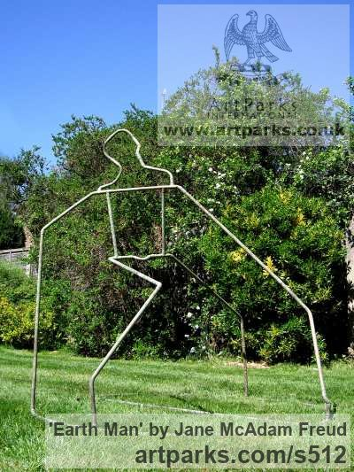 Copper Garden Or Yard / Outside and Outdoor sculpture by sculptor Jane McAdam Freud titled: 'Earth Man (figurative abstract Yard garden Outdoors sculpture)'