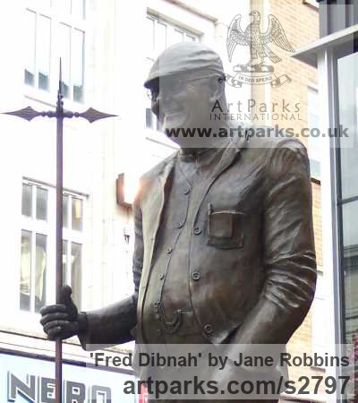 Bronze Portrait Sculptures / Commission or Bespoke or Customised sculpture by sculptor Jane Robbins titled: 'Fred Dibnah' - Artwork View 3