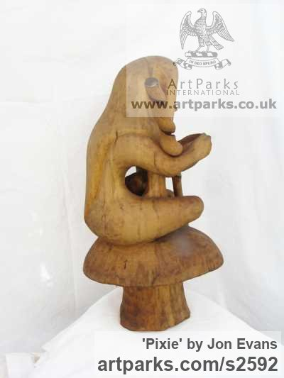 Male Men Youths Masculine sculpturettes figurines sculpture by sculptor Jon Evans titled: 'Pixie' - Artwork View 2