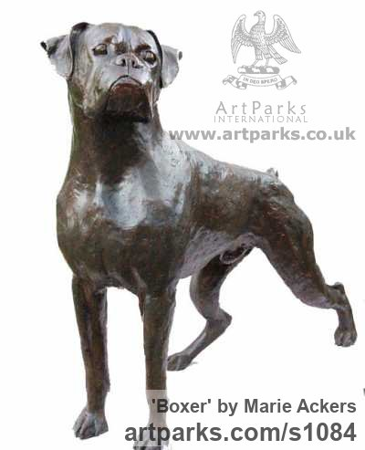 Bronze Resin ( Bronze On Order) Dogs Sculpture By Sculptor Marie Ackers  Titled: U0027