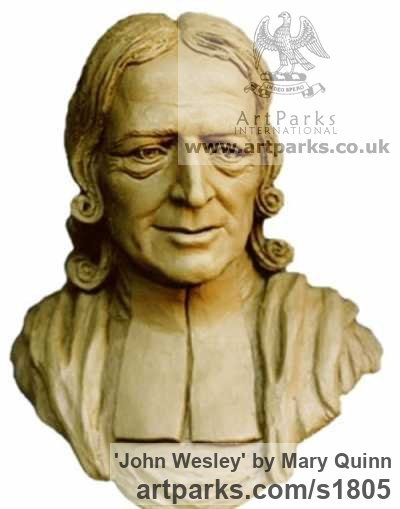 Bronze Portrait Sculptures / Commission or Bespoke or Customised sculpture by sculptor Mary Quinn titled: 'John Wesley (Bronze Portrait Bust Compassion sculptures)' - Artwork View 2
