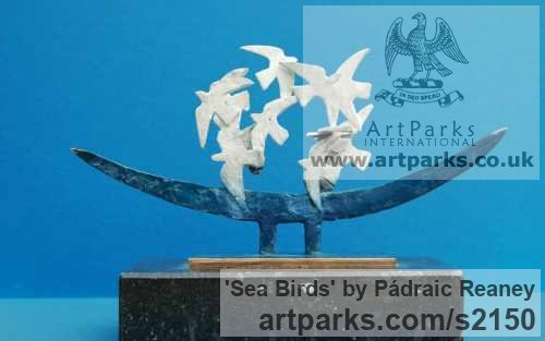Bronze Varietal Mix of Bird Sculptures or sculpture by sculptor Pádraic Reaney titled: 'Sea Birds'