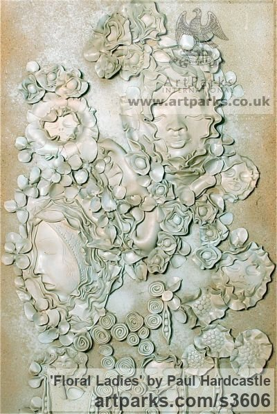 Ceramic Floral, Fruit and Plantlife sculpture by artist Paul Hardcastle titled: 'Floral Ladies'