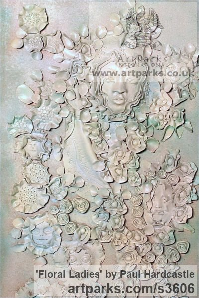 Ceramic Floral, Fruit and Plantlife sculpture by artist Paul Hardcastle titled: 'Floral Ladies' - Artwork View 2