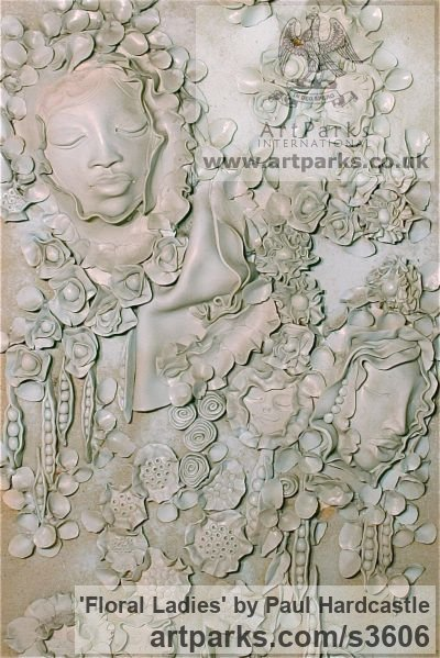 Ceramic Floral, Fruit and Plantlife sculpture by artist Paul Hardcastle titled: 'Floral Ladies' - Artwork View 4