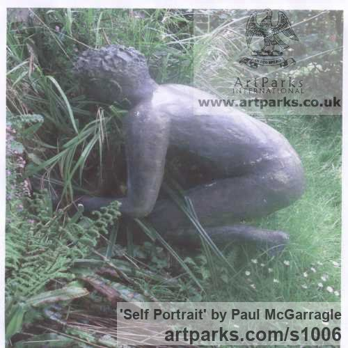 Bronze Resin Male Men Youths Masculine sculpturettes figurines sculpture by sculptor Paul McGarragle titled: 'Self Portrait'