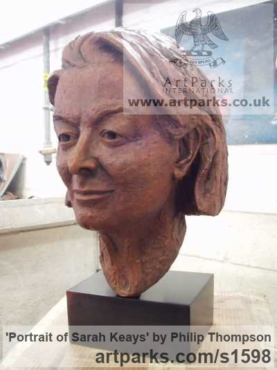 Bronze Portrait Sculptures / Commission or Bespoke or Customised sculpture by sculptor Philip Thompson titled: 'Portrait of Sarah Keays (Commission Head/Bust Portrait Custom statue)'